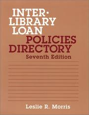 Cover of: Interlibrary loan policies directory