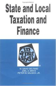Cover of: State and local taxation and finance in a nutshell