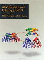 Cover of: Modification and editing of RNA |