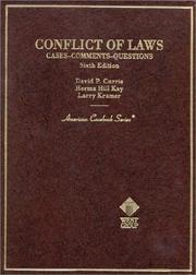 Cover of: Conflict of laws