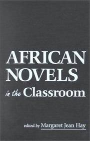 Cover of: African novels in the classroom