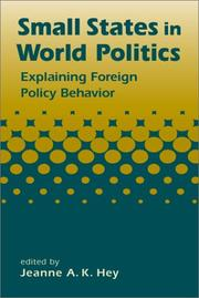 Cover of: Small States in World Politics
