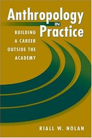 Cover of: Anthropology in Practice