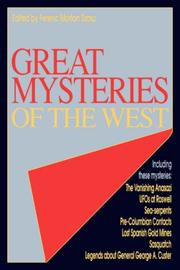 Cover of: GREAT MYSTERIES OF THE WEST