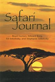 Cover of: Safari journal