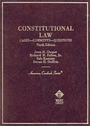 Cover of: Constitutional Law | Fallon Choper