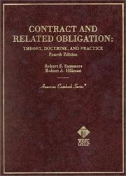 Cover of: Contract and related obligation