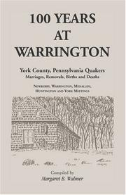 Cover of: 100 Years at Warrington | Margaret B. Walmer