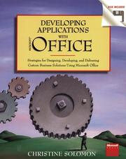 Cover of: Developing applications with Microsoft Office