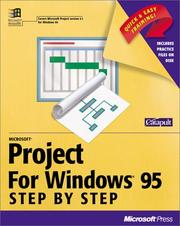 Cover of: Microsoft Project for Windows 95 (Step By Step (Redmond, Wash.).) | Inc. Catapult