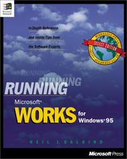 Cover of: Running Microsoft Works for Windows 95: in-depth reference and inside tips from the software experts
