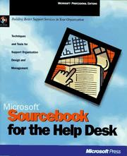 Microsoft sourcebook for the help desk