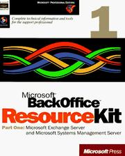 Cover of: Microsoft Backoffice Resource Kit | Microsoft Corporation.