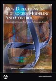 Cover of: New directions in bioprocess modeling and control