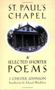 Cover of: St. Paul's Chapel & selected shorter poems