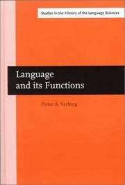 Cover of: Language and its functions by Pieter Adrianus Verburg