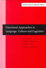 Cover of: Functional approaches to language, culture, and cognition