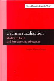 Cover of: Grammaticalization