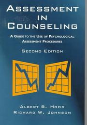 Cover of: Assessment in counseling: a guide to the use of psychological assessment procedures