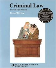 Cover of: Criminal law | Peter W. Low