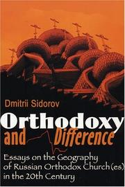 Cover of: Orthodoxy and difference | D. Sidorov