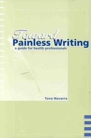 Cover of: Toward painless writing