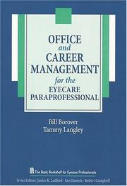 Cover of: Office and career management for the eye care paraprofessional