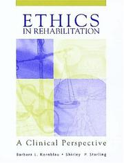 Cover of: Ethics In Rehabilitation | Barbara Kornblau