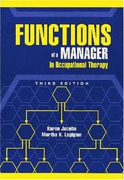 Functions Of A Manager In Occupational Therapy by