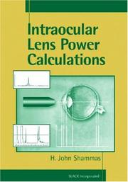 Cover of: Intraocular lens power calculations