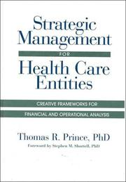 Cover of: Strategic management for health care entities