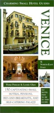 Cover of: Venice &North-East Italy (Charming Small Hotel Guides)