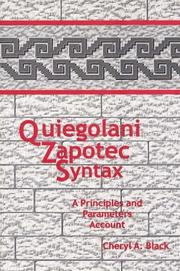 Quiegolani Zapotec Syntax by Cheryl A. Black