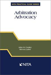 Cover of: Arbitration advocacy