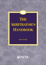 Cover of: The arbitrator's handbook