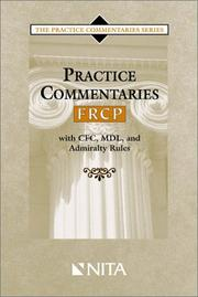 Cover of: Practice Commentaries -- FRCP