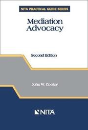 Cover of: Mediation Advocacy