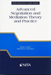 Cover of: Advanced negotiation and mediation theory and practice