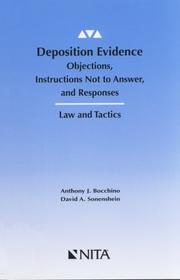 Cover of: Deposition evidence