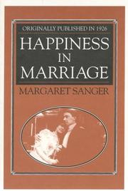 Cover of: Happiness in marriage