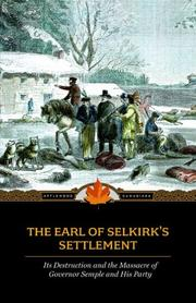 Cover of: The Earl of Selkirk