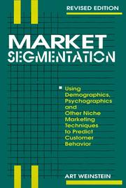 Cover of: Market segmentation