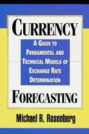 Cover of: Currency forecasting
