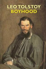 Cover of: Boyhood | Tolstoy