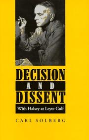 Cover of: Decision and dissent: with Halsey at Leyte Gulf