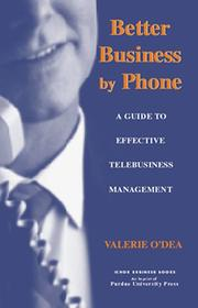 Cover of: Better business by phone