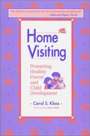 Cover of: Home visiting