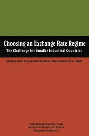 Cover of: Choosing an exchange rate regime