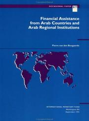 Financial assistance from Arab countries and Arab regional institutions by Pierre van den Boogaerde