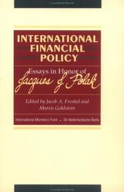 Cover of: International financial policy